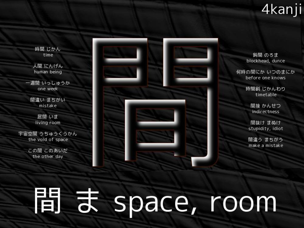 Ma - Space - Kanji Wallpaper